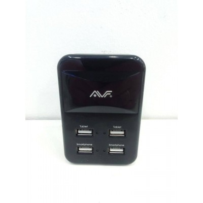 AVF 4 Port USB Power Adapter (UK Tpye) Max51
