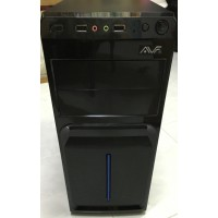 AVF ATX Casing with PSU 500w 20+4pin with2*Sata cable/USB +Audio - Black/BLue