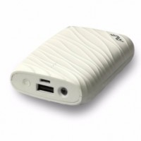 AVF Cobbiestone Portable Power Bank with 10400 MAH - White(APBA15-WH)